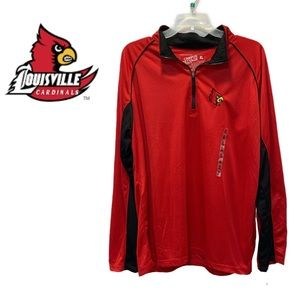 NWT louisville cardinals Campus heritage unisex polyester quarter zip pull over